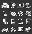 computer repair service icons set grey vector image vector image