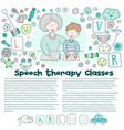 concept article speech therapy classes with vector image