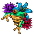 cute frog cartoon cartoon frog sitting with vector image