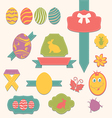 Easter scrapbook set - labels ribbons and other vector image