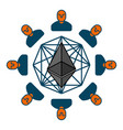 etherium pool extraction of cryptocurrency mining vector image vector image