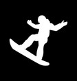 extreme sport snowboard design vector image vector image