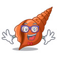 geek long shell character cartoon vector image