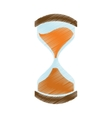 Hand draw clock glass sand business money color