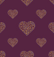 Heart with connected lines and dots Wireframe mesh vector image vector image