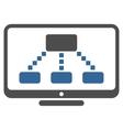 Hierarchy Monitor Toolbar Icon vector image vector image