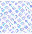 hobby seamless pattern with thin line icons vector image vector image