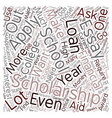 How to Lessen Student Debt text background vector image vector image