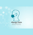 human head for allergy vector image vector image