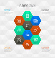 industry outline icons set collection of vector image vector image