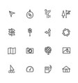 map and navigation line icons set vector image vector image