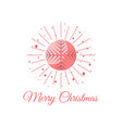 merry christmas ball with snowflake pattern pop vector image vector image