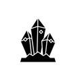 mineral treasure black icon sign on vector image