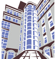 modern building vector image vector image