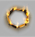 paper burn hole flame edge effect burnt effect vector image