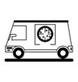 Pizza delivery truck icon image vector image