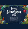 Poster horizontal happy new year calligraphy