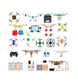 Quadrocopters drone helicopter toy vector image