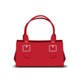 red handbag vector image