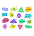 refer a friend - set colorful icons for vector image vector image