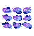 sale badge set isolated sale special price offer vector image