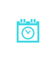 schedule icon on white vector image vector image