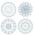 set blue guilloche rosettes vector image
