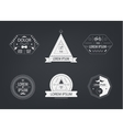 set of black and white hipster modern vector image