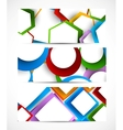 Set of geometric banners vector image vector image