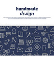 sewing needlework handwork design vector image