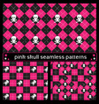 skull seamless patterns vector image vector image