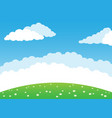 summer background with green meadow vector image vector image