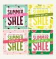 summer sale set of social media banners vector image vector image