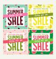 summer sale set social media banners vector image vector image