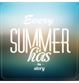 Summer Typographic Abstract Background vector image
