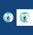surfing emblem surf symbol vector image vector image