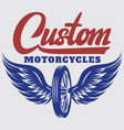 template on motorcycle theme with vector image vector image