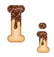 tempting typography font design 3d donut letter i