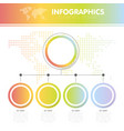 the infographics with the vector image vector image
