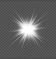 transparent glow light effect star burst vector image