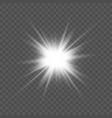 transparent glow light effect star burst vector image vector image