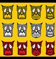 tribal scary halloween skull totem mascot i vector image vector image
