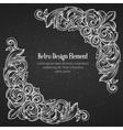 Vintage baroque corner vector image vector image