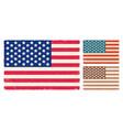vintage flag usa vector image vector image