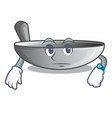 waiting frying pan wok isolated on mascot vector image