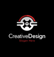 wheel racing auto modern logo vector image vector image