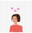 woman in love design vector image vector image