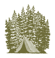 Woodcut Camping Graphic vector image vector image