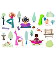 yoga girls vector image vector image