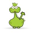 funny dinosaur color vector image